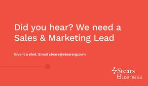 Stears is Hiring a Sales and Marketing Lead